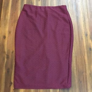 Eci burgundy long skirt